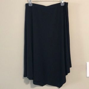 Eileen Fisher Asymmetrical Black Skirt SZ Sm NWT